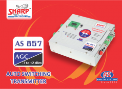AS 857 AUTO SWITCHING TRANSMITTER - AGC